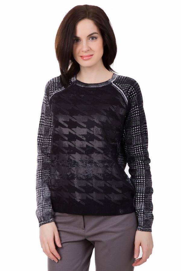 Пуловер LebekПуловеры<br>Хочешь выделиться и быть необычной? Тогда смелее покупай этот пуловер от Lebek. Свободный черно-белый женский пуловер идеально подойдет для вечерних прогулок. А его необычный геометрический принт не позволит Вам остаться в тени. Спереди дополнительно украшен рисунком из серых пайеток. Состав - 35% полиамид, 42% вискоза, 20% хлопок, 3% кашемир.<br><br>Размер RU: 48<br>Пол: Женский<br>Возраст: Взрослый<br>Материал: полиамид 35%, вискоза 42%, хлопок 20%, кашемир 3%<br>Цвет: Белый