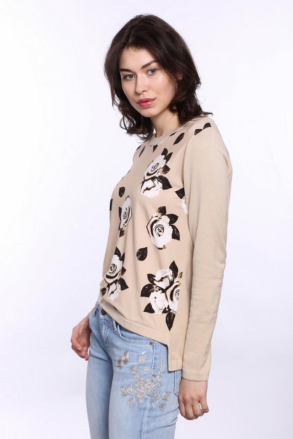 Пуловер Eugen KleinПуловеры<br>Яркий весенний пуловер от Eugen Klein идеально подходит для тёплых деньков. Пуловер бежевого цвета с длинным рукавом, поэтому ветра можно не опасаться. Спереди украшен бело-черным принтом в виде роз, что делает это очень нежным. К тому же, пуловер соответствует современной моде – задняя часть немного длиннее передней.<br><br>Размер RU: 44<br>Пол: Женский<br>Возраст: Взрослый<br>Материал: эластан 14%, полиакрил 40%, модал 46%<br>Цвет: Разноцветный