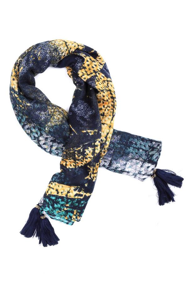 Шарф Gerry WeberШарфы<br>Пёстрый, стильный и необычный – так можно описать шарф от Gerry Weber. Белый, жёлтый, зелёный и синий цвета гармонично переплетаются, создавая неповторимый дизайн. Пальто, пуховик или пуловер – данный шарф подойдет ко всему, дополнит любой образ. Дополняют данное изделие кисточки, украшенные плетением из бисера. Состав – 100% полиэстер.<br><br>Размер RU: один размер<br>Пол: Женский<br>Возраст: Взрослый<br>Материал: полиэстер 100%<br>Цвет: Разноцветный