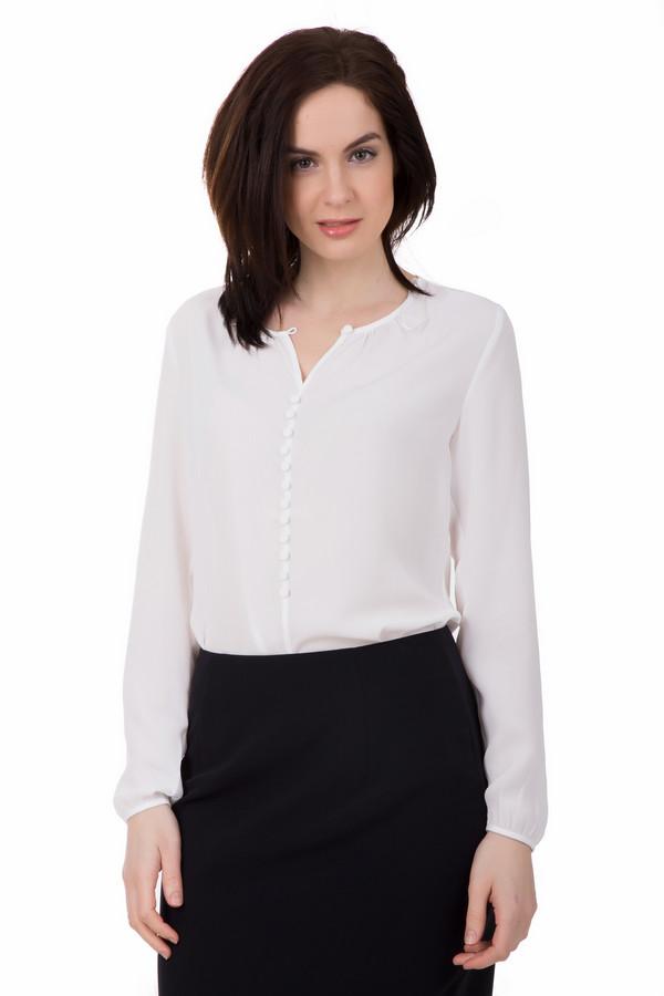 Блузa TaifunБлузы<br>Белая блуза от Taifun выполнена в классическом стиле. Блуза удлинённая, поэтому её можно носить как заправляя, так и навыпуск. Спереди украшена белыми декоративными пуговицами. Отлично подойдет под классическую чёрную юбку, брюки иди даже джинсы. Рукава снизу на резинках. Состав – 100% полиэстер.<br><br>Размер RU: 46<br>Пол: Женский<br>Возраст: Взрослый<br>Материал: полиэстер 100%<br>Цвет: Белый
