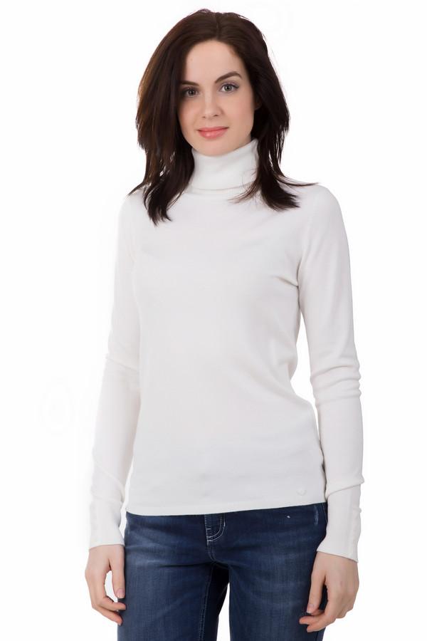 Пуловер TaifunПуловеры<br>Классический пуловер белого цвета под горло от Taifun просто должен быть в шкафу каждой модницы, ведь это универсальная вещь. Он подойдет под любой образ, станет дополнением к любому стилю. Пуловер средней длины, слегка заужен в области талии. Дополнительно украшен декоративными пуговицами на рукавах. Состав - 17% полиамид, 83% вискоза.