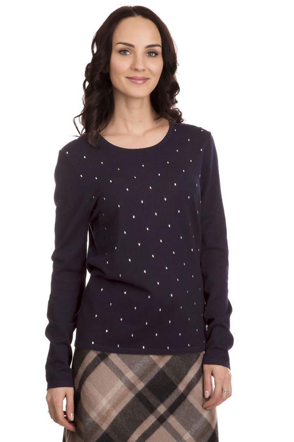 Пуловер Gerry WeberПуловеры<br>Пуловер Gerry Weber темно-синий женский. Эта вещь необычайно стройнит благодаря своему темному цвету. Серебристый декор продолговатой формы по всему лифу модели в то же время делает ее крайне неординарной и стильной. Состав ткани: полиамид плюс вискоза. Демисезонное изделие для элегантных женщин и девушек.<br><br>Размер RU: 50<br>Пол: Женский<br>Возраст: Взрослый<br>Материал: полиамид 20%, вискоза 80%<br>Цвет: Синий