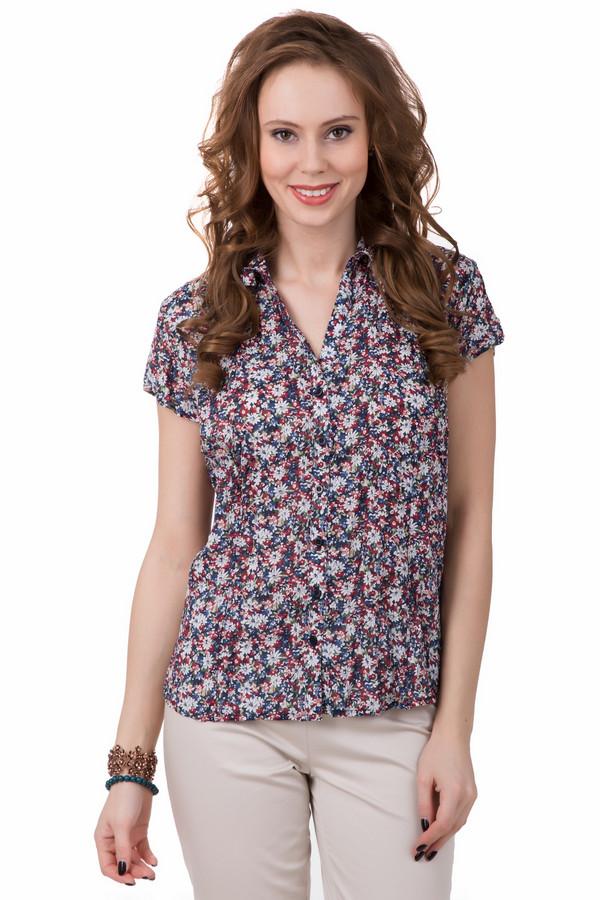 Блузa PezzoБлузы<br>Лето – пора цветения, и летняя блуза от Pezzo тому подтверждение. Блуза сделана из лёгкого материала, с коротким рукавом. Само же изделие очень интересное и бросается в глаза за счёт своего необычного рисунка – на ней изображены маленькие разноцветные цветы. Преобладающие оттенки – белый, бордовый, зелёный, синий. Состав – 100% хлопок.<br><br>Размер RU: 42<br>Пол: Женский<br>Возраст: Взрослый<br>Материал: хлопок 100%<br>Цвет: Разноцветный