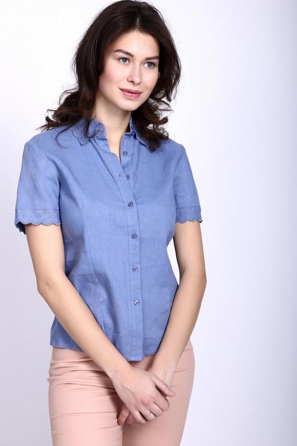 Блузa PezzoБлузы<br>Нежная рубашка от Pezzo синего цвета придется по вкусу любой моднице. С первого взгляда – это классическая рубашка, но она дополнительно украшена необычным узором на воротнике и рукавах. Это делает её уникальной в своём роде. А нежно-синий цвет идеально подойдёт под красивые джинсы. Рубашка удлинённая, это даёт возможность её носить как навыпуск, так и заправляя. Состав – 45% вискоза, 55% лён.<br><br>Размер RU: 44<br>Пол: Женский<br>Возраст: Взрослый<br>Материал: вискоза 45%, лен 55%<br>Цвет: Синий