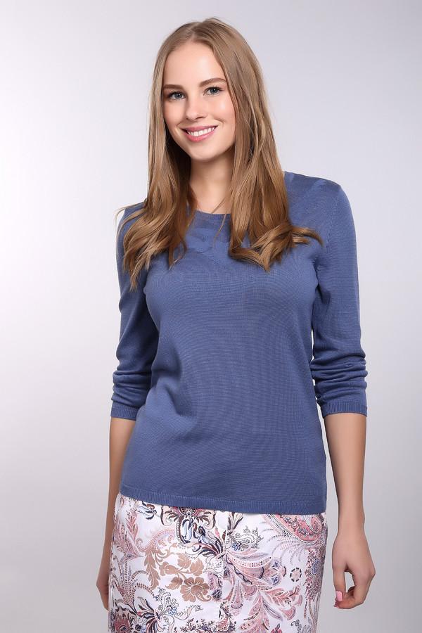 Пуловер PezzoПуловеры<br>Стильный синий пуловер от Pezzo отличается простотой и гармоничностью. Средняя длина, длинный рукав, небольшой круглый вырез. Дополнительно украшен едва заметным узором, который расположен возле выреза. Отлично будет смотреться в сочетании с зауженными джинсами и туфлями на каблуке. Состав – 52% вискоза, 48 % хлопок.<br><br>Размер RU: 46<br>Пол: Женский<br>Возраст: Взрослый<br>Материал: хлопок 48%, вискоза 52%<br>Цвет: Синий