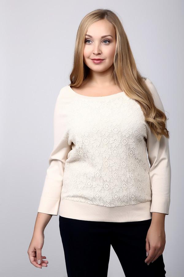 Пуловер PezzoПуловеры<br>Нежный пуловер бежевого цвета от Pezzo сделает Ваш образ по-настоящему женственным. Данное изделие средней длины, рукав – 3/4, не обтягивающее. Спереди пуловер дополнительно украшен гипюровой вставкой с красивым узором. Хорошо будет смотреться под джинсы или юбку в стиле casual. Состав – 80% вискоза, 20% нейлон.