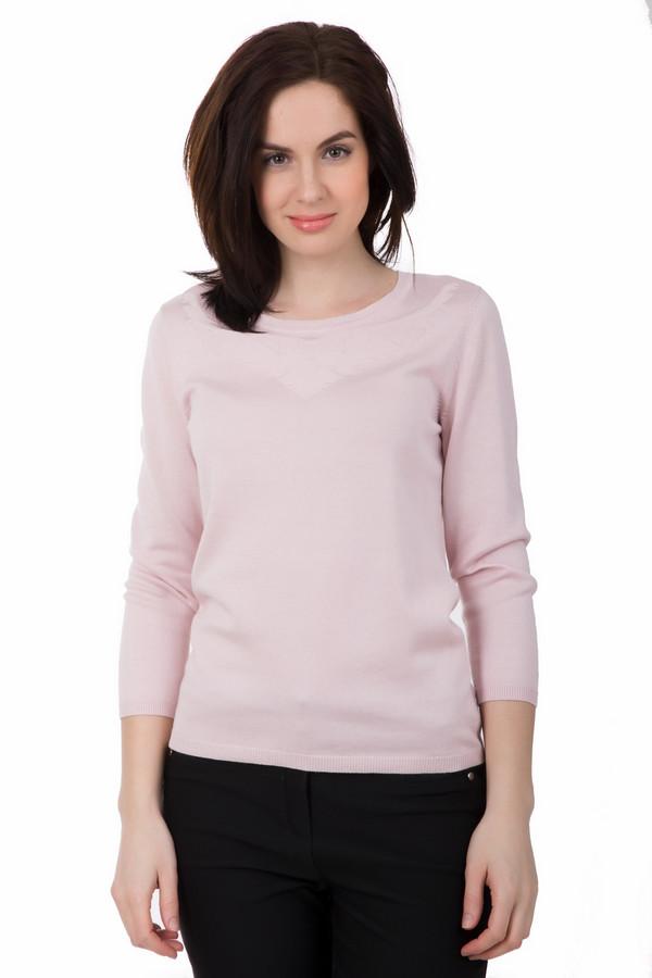 Пуловер PezzoПуловеры<br>Стильный розовый пуловер от Pezzo отличается простотой и гармоничностью. Средняя длина, длинный рукав, небольшой круглый вырез. Дополнительно украшен едва заметным узором, который расположен возле выреза. Отлично будет смотреться в сочетании с зауженными джинсами и туфлями на каблуке. Состав – 52% вискоза, 48 % хлопок.<br><br>Размер RU: 46<br>Пол: Женский<br>Возраст: Взрослый<br>Материал: хлопок 48%, вискоза 52%<br>Цвет: Розовый