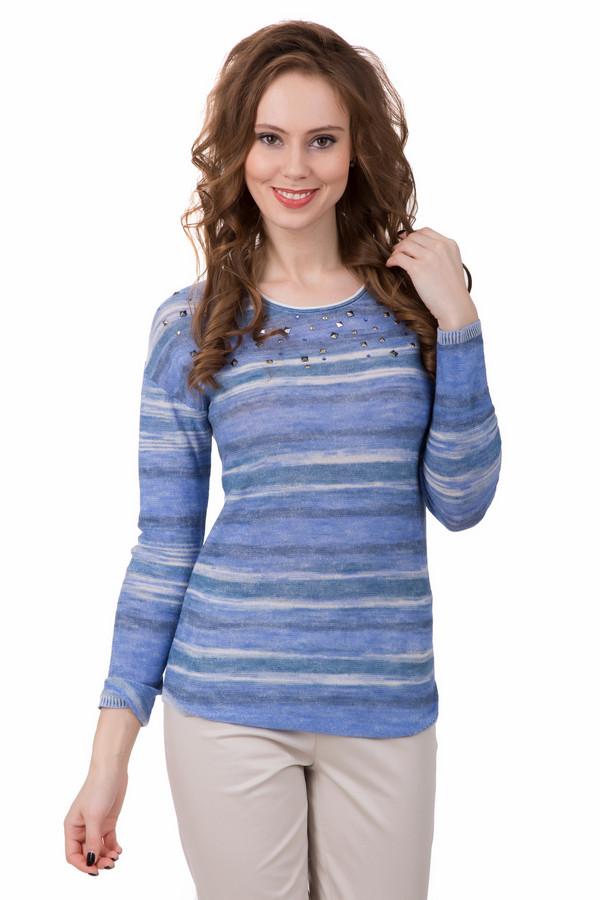 Пуловер PezzoПуловеры<br>Морские волны, шум прибоя, пролетающие чайки, чистое небо – такие воспоминания возникают при взгляде на пуловер от Pezzo. Переплетение всевозможных оттенков голубого, синего и белого, абстрактные разводы – более необычный пуловер даже не стоит искать. Он придаст вашему образу нежности и загадочности. Дополнительно украшен декоративными заклёпками серебряного и злотого цвета. Состав - 30% хлопок, 53% вискоза, 17% лен.<br><br>Размер RU: 50<br>Пол: Женский<br>Возраст: Взрослый<br>Материал: хлопок 30%, вискоза 53%, лен 17%<br>Цвет: Бежевый