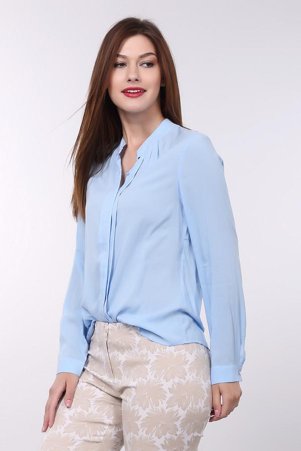 Блузa PezzoБлузы<br>Если Вы хотите освежить Ваш офисный костюм, блуза от Pezzo голубого цвета идеально подходит для этого. Изделие выполнено из тонкой, полупрозрачной ткани. Блуза свободная, не облегает. Застёгивается на пуговицы-невидимки. Блуза длинная, что позволяет носить её разными способами – навыпуск или заправляя. Состав – 100% вискоза.