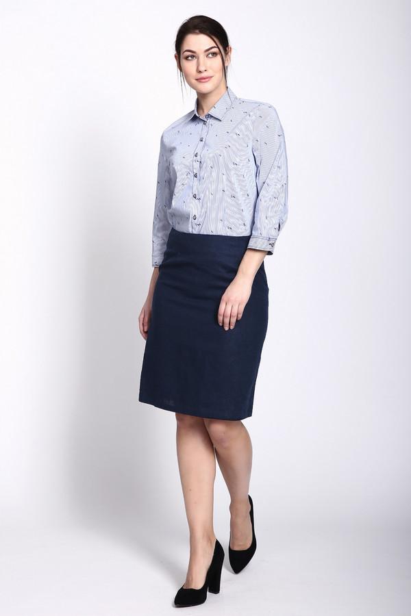 женская юбка-карандаш pezzo, синяя