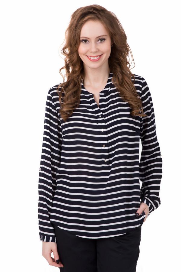 Блузa PezzoБлузы<br>В прохладные весенние или осенние дни блуза Pezzo будет отличным вариантов для вашего повседневного стиля. Классические цвета и всегда модная полоска идеально подходят для офиса, а благодаря приталенному крою и возможностью носить на выпуск, подойдет также для отдыха и прогулок. А если станет слишком тепло, вы всегда сможете укоротить рукав за счет удобных застежек.
