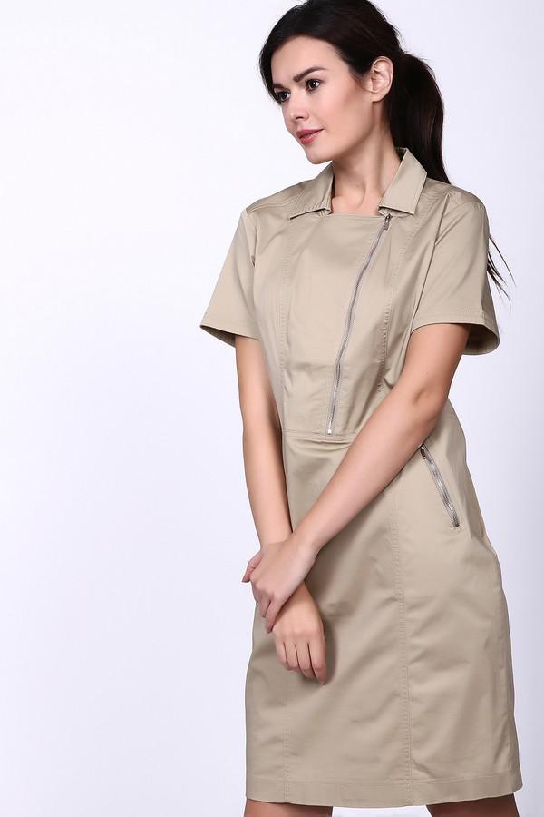 Платье PezzoПлатья<br>Очень красивое, элегантное платье Pezzo в теплом бежевом цвете. Оригинальный дизайн молний и ассиметричный крой придают классическому фасону свой шарм. Отличная базовая вещь для летнего гардероба, предоставляющая широкий спектр комбинаций образов – от строгого до празднично-торжественного.<br><br>Размер RU: 48<br>Пол: Женский<br>Возраст: Взрослый<br>Материал: хлопок 96%, спандекс 4%<br>Цвет: Бежевый