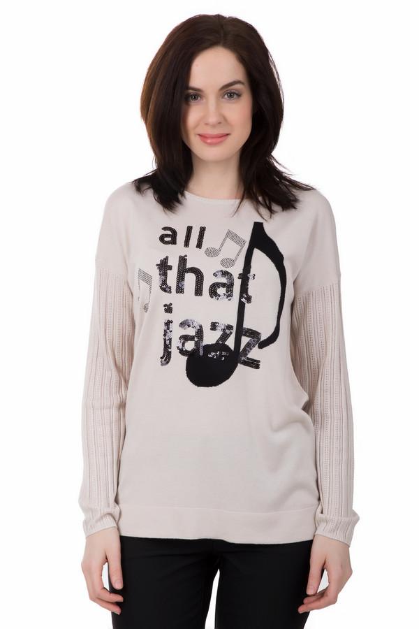 Пуловер PezzoПуловеры<br>В этом пуловере Pezzo вы всегда будете выглядеть ярко и актуально. Музыкальный принт отлично подходит для вечеринок, концертов или просто совместного отдыха с друзьями. Отделка рукавов и удлиненный крой придадут вашему образу стильности и неповторимости. Свободный крой даст ощущение комфорта и удобства.<br><br>Размер RU: 44<br>Пол: Женский<br>Возраст: Взрослый<br>Материал: вискоза 70%, нейлон 30%<br>Цвет: Бежевый