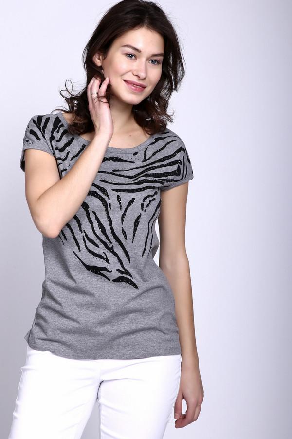 Футболка PezzoФутболки<br>Оригинальная casual-футболка Pezzo серого цвета. Для активного отдыха и других повседневных образов. Спина и плечи украшены ажурной вставкой, что делает вещь оригинальной, привлекательной и женственной. Средняя длина изделия дает возможность комбинировать ее с различными элементами гардероба.