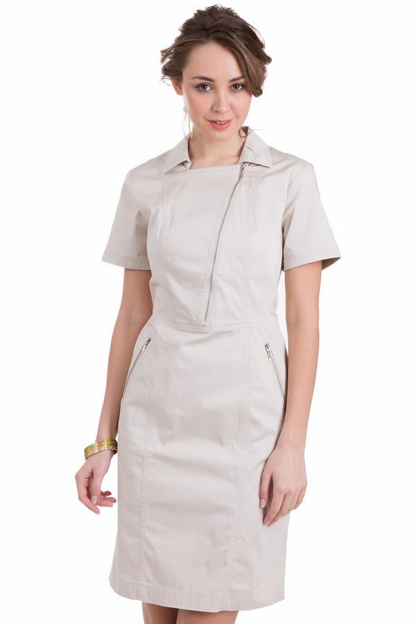 Платье PezzoПлатья<br>Светлое легкое платье Pezzo из натуральной ткани. Строгость линий и некий «форменный» стиль подчеркнут изгибы фигуры, а задорный косые ассиметричные «молнии» придадут оригинальности и неповторимости вашему образу. Незаменимая вещь для летнего гардероба благодаря своей универсальности, простоте и привлекательности.<br><br>Размер RU: 46<br>Пол: Женский<br>Возраст: Взрослый<br>Материал: хлопок 96%, спандекс 4%<br>Цвет: Бежевый