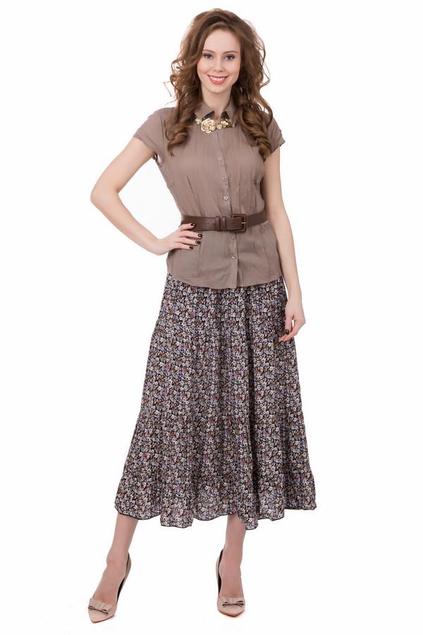 Юбка PezzoЮбки<br>Юбка-трансформер Pezzo. Покупая одну вещь, получаете, как минимум три. Красивая и легкая юбка с цветочным принтом с длинной ниже колена. При наличии пояса просто превращается в летнее платье. А благодаря пристроченным к поясу бретелям юбку можно носить как сарафан. Замечательное решение для отпуска, чтобы сэкономить место в багаже.<br><br>Размер RU: 46<br>Пол: Женский<br>Возраст: Взрослый<br>Материал: вискоза 100%<br>Цвет: Разноцветный