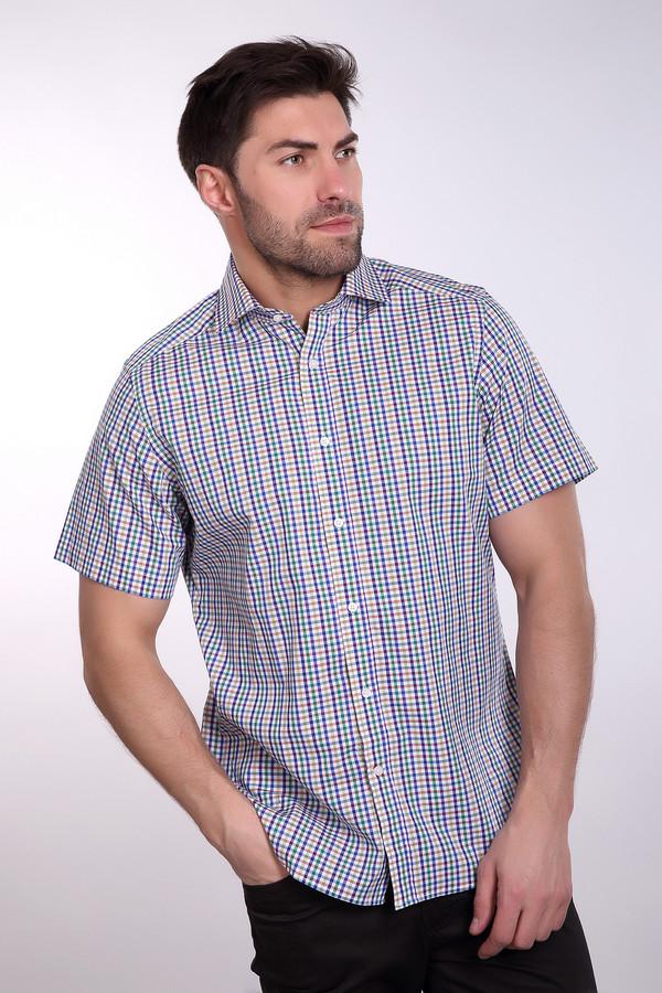 Мужские рубашки с коротким рукавом PezzoКороткий рукав<br>Комфортная хлопковая мужская рубашка Pezzo. Удобный крой и оригинальный принт с разноцветной полоской отлично смотрится в casual-образе и благодаря натуральному составу комфортна в теплое время года. Отлично подойдет также для не строгого офисного дресс-кода. Может одеваться навыпуск.<br><br>Размер RU: 43<br>Пол: Мужской<br>Возраст: Взрослый<br>Материал: хлопок 100%<br>Цвет: Разноцветный