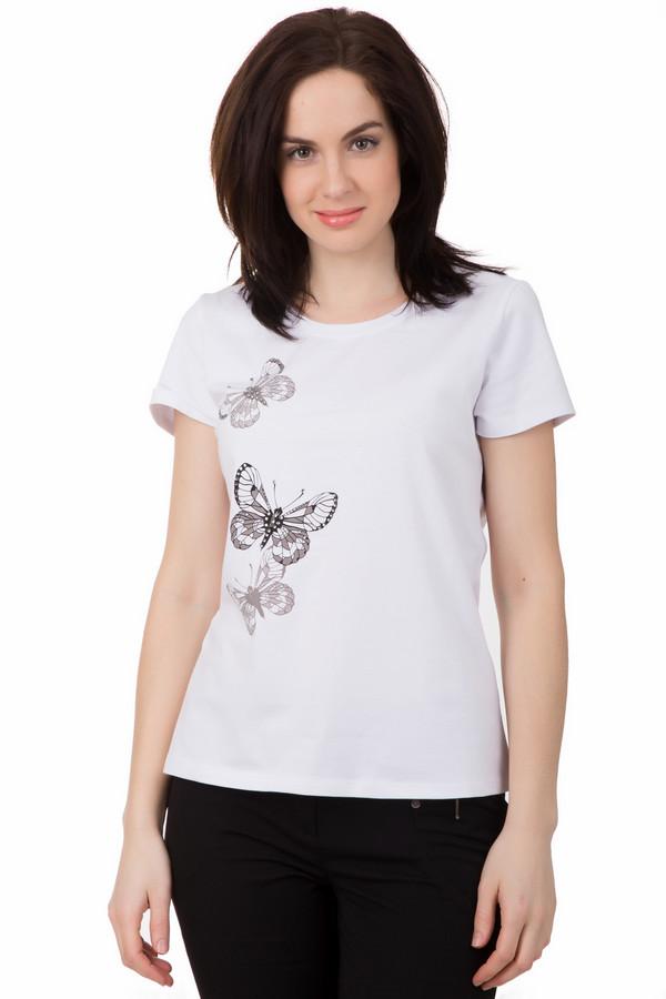 Футболка PezzoФутболки<br>Футболка Pezzo белая. Отличная модель для романтичной натуры. Это модель, которая не только безупречно выглядит, а еще и комфортна в носке. Белый цвет – это всегда нарядно и изящно. Чудесный принт с бабочками украшает не только перед, а и спинку модели, в такой футболке вам будет очень уютно летом. Состав: хлопок плюс спандекс.<br><br>Размер RU: 40<br>Пол: Женский<br>Возраст: Взрослый<br>Материал: хлопок 95%, спандекс 5%<br>Цвет: Белый