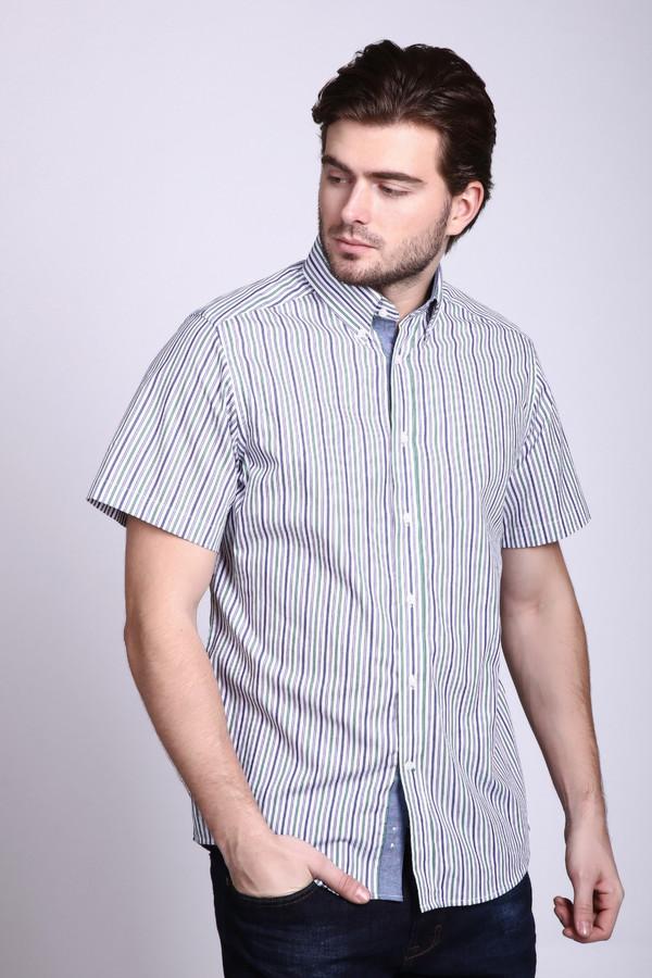 Мужские рубашки с коротким рукавом PezzoКороткий рукав<br>Рубашка с коротким рукавом Pezzo. Мужские сорочки – это всегда определенный консерватизм кроя, особенно если речь идет об одежде для офиса. Такая модель будет «изюминкой» вашего образа – белый фон украшен тоненькой полоской зеленого, синего, сиреневого цветов, что очень освежает любой ансамбль.<br><br>Размер RU: 40<br>Пол: Мужской<br>Возраст: Взрослый<br>Материал: хлопок 100%<br>Цвет: Разноцветный