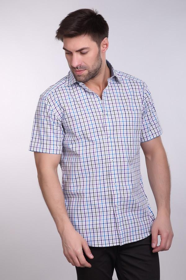 Мужские рубашки с коротким рукавом PezzoКороткий рукав<br>Рубашка с коротким рукавом Pezzo в клетку. Сочетание белого, зеленого, синего и фиолетового цветов на этой рубашке выглядит просто замечательно. Застежка на пуговицы спереди и отложной воротничок – все атрибуты классической летней сорочки налицо. Рисунок же добавляет изделию оригинальности и шарма. Состав: 100%-ный хлопок.<br><br>Размер RU: 45<br>Пол: Мужской<br>Возраст: Взрослый<br>Материал: хлопок 100%<br>Цвет: Разноцветный