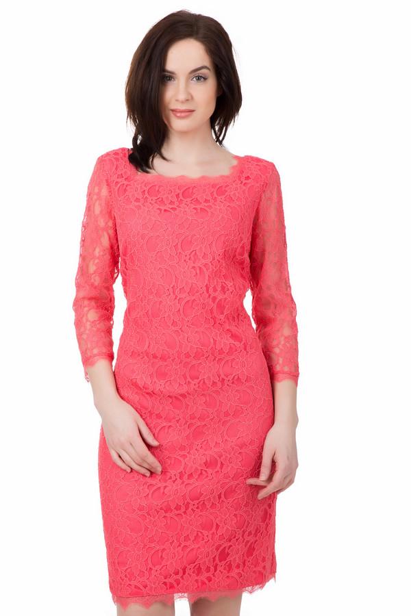 Платье Joseph RibkoffПлатья<br>Платье Joseph Ribkoff розовое. Сочный оттенок коралла – это всегда красиво, особенно если речь идет о женской моде и платьях в частности. Ажурная ткань продублирована более плотной, поэтому вам будет в такой вещи очень комфортно. Состав: хлопок плюс нейлон, подкладка: полиэстер. Надев эту модель под обувью на каблуке, вы гарантированно будете чувствовать себя королевой.<br><br>Размер RU: 48<br>Пол: Женский<br>Возраст: Взрослый<br>Материал: хлопок 45%, нейлон 55%, Состав_подкладка полиэстер 100%<br>Цвет: Розовый