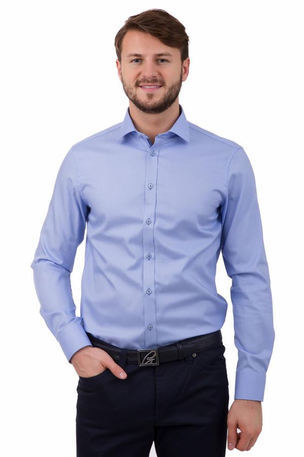 Рубашка с длинным рукавом VentiДлинный рукав<br>Рубашка с длинным рукавом Venti голубая. Очень сильная модель, которая, оставаясь классической, все же имеет небольшую яркую деталь – планка застежки отделана вставкой из другой ткани. Такая вещь хорошо подойдет под джинсы или деловой костюм. Незаменима для офиса. Состав: 100%-ный хлопок.<br><br>Размер RU: 38<br>Пол: Мужской<br>Возраст: Взрослый<br>Материал: хлопок 100%<br>Цвет: Синий