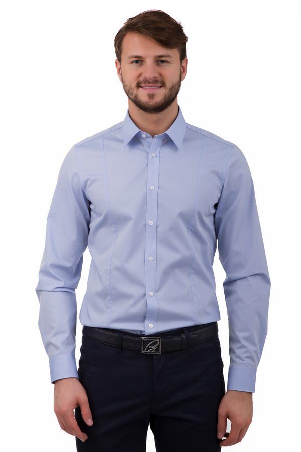 Рубашка с длинным рукавом VentiДлинный рукав<br>Рубашка с длинным рукавом Venti голубая. Необычная модель деловой рубашки – ведь она, в отличии от классического варианта, снабжена двумя дополнительными швами спереди, благодаря чему выглядит свежо и небанально. Состав: 100%-ный хлопок. Модель сочетается с различными джинсами и брюками.<br><br>Размер RU: 38<br>Пол: Мужской<br>Возраст: Взрослый<br>Материал: хлопок 100%<br>Цвет: Голубой