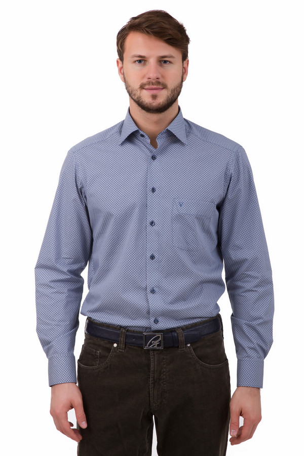 Рубашка с длинным рукавом MarvelisДлинный рукав<br>Рубашка с длинным рукавом Marvelis мужская. Синий с белым – превосходное сочетание для мелкого узора мужской сорочки. Классическая застежка на пуговицы и отложной воротничок – неизменные атрибуты мужской рубашки. В офис или на деловую встречу, а также в гости – в ней вы можете пойти куда угодно. Состав: 100%-ный хлопок.<br><br>Размер RU: 40<br>Пол: Мужской<br>Возраст: Взрослый<br>Материал: хлопок 100%<br>Цвет: Белый