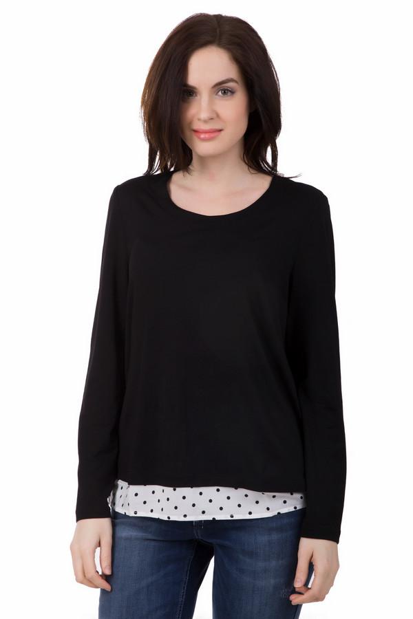 Блузa SamoonБлузы<br>Блузa Samoon черно-белая. Нетривиальная модель для женского гардероба: эффект двойной вещи – очень модно и практично! Нижний слой – это белая блуза в горошек, которая как бы приоткрывается со спинки. Черный верх отлично сочетается с нижним слоем этой блузы. Состав: вискоза плюс эластан. В особенности хорошо изделие смотрится с джинсами.<br><br>Размер RU: 46<br>Пол: Женский<br>Возраст: Взрослый<br>Материал: эластан 5%, вискоза 95%<br>Цвет: Белый