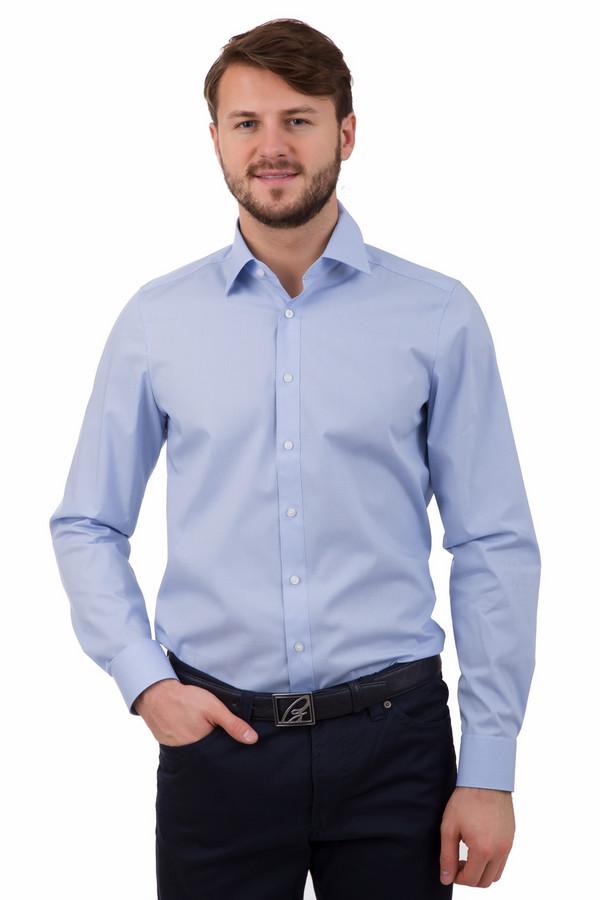 Рубашка с длинным рукавом OlympДлинный рукав<br>Рубашка с длинным рукавом Olymp голубая. В такой рубашке с длинным рукавом вы будете постоянно на высоте. Под джинсы или деловой костюм – ее можно носить абсолютно со всем, сочетайте не сомневаясь. Отличный выбор для создания базового мужского гардероба. Состав: хлопок плюс эластан.<br><br>Размер RU: 44<br>Пол: Мужской<br>Возраст: Взрослый<br>Материал: эластан 3%, хлопок 97%<br>Цвет: Голубой