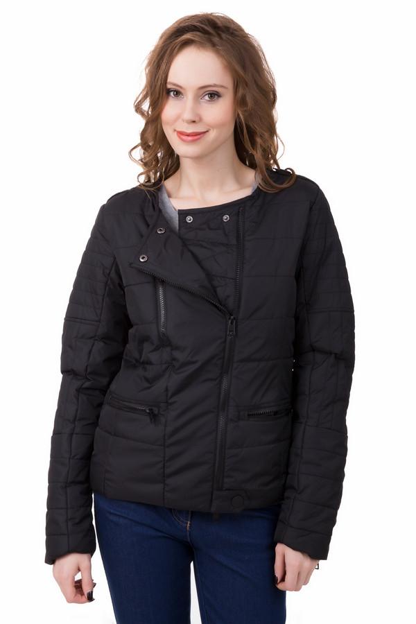 Куртка LocustКуртки<br>Куртка Locust черная женская. Эта модель свободного кроя очень удобна в носке – она не сковывает ваших движений, дает возможность сочетать ее со всевозможными брюками и джинсами. Асимметричная застежка на молнию – «изюминка» этой курточки. Горизонтальные прорезные карманы на молнии и разные направления и варианты пристёгивания ткани – характерные черты этой вещи. Состав: 100% полиэстер.<br><br>Размер RU: 44-46<br>Пол: Женский<br>Возраст: Взрослый<br>Материал: нейлон 100%, Состав_подкладка полиэстер 100%<br>Цвет: Чёрный