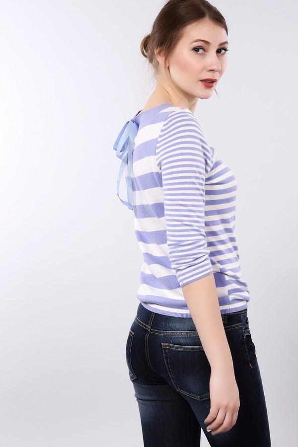 Пуловер PezzoПуловеры<br>Полосатый пуловер Pezzo приталенного кроя бело-сиреневого цвета. Изделие дополнено: круглым вырезом и укороченными рукавами. Пуловер декорирован бантом на спинке изделия.<br><br>Размер RU: 46<br>Пол: Женский<br>Возраст: Взрослый<br>Материал: вискоза 33%, хлопок 18%, полиамид 23%, шерсть 18%, кашемир 4%, ангора 4%<br>Цвет: Разноцветный