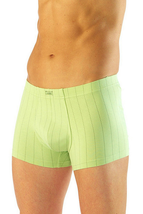 Трусы LowryТрусы<br>Трусы-боксеры Lowry зеленые. Приятный оттенок этой модели обращает на себя восхищенные взгляды. Свежий и сочный цвет в белье – это всегда правильный выбор. Мелкий узор штрихами также хорош! Состав: хлопок и лайкра. Носить такие трусы вы сможете круглогодично, они будут неизменно комфортны и удобны в носке.<br><br>Размер RU: 44<br>Пол: Мужской<br>Возраст: Взрослый<br>Материал: хлопок 95%, лайкра 5%<br>Цвет: Зелёный