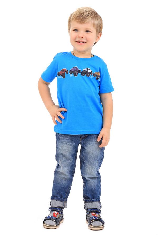 Футболка Tom TailorФутболки<br><br><br>Размер RU: 28;104-110<br>Пол: Мужской<br>Возраст: Детский<br>Материал: хлопок 100%<br>Цвет: Голубой