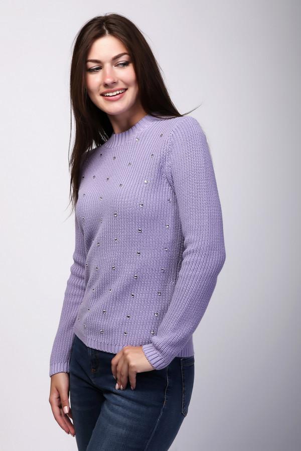 Пуловер PezzoПуловеры<br>Пуловер Pezzo сиреневый женский. Милый и нарядный, этот пуловер наверняка станет одним из ваших любимых предметов гардероба. Украшение из камней по лифу изделия дарит ему шарм и оригинальность. Вещи такого оттенка ассоциируются с весной и свежестью, временем цветения и благоухания. Пуловер великолепно сочетается с брючками и юбками, с джинсами и шортиками. Состав: хлопок и вискоза.<br><br>Размер RU: 52<br>Пол: Женский<br>Возраст: Взрослый<br>Материал: хлопок 60%, вискоза 40%<br>Цвет: Сиреневый