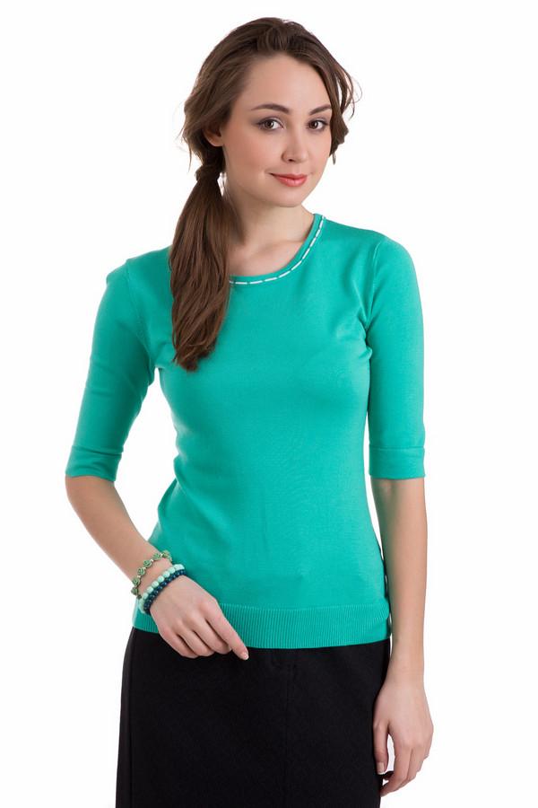 Пуловер PezzoПуловеры<br>Пуловер Pezzo зеленый. Восхитительный оттенок – вот что обращает на себя внимание в этой модели сразу же. Рукава с небольшими отворотами и декоративная полоска вокруг выреза горловины – эти детали делают данное изделие более чем привлекательным. Состав: полиамид плюс вискоза. Комбинируйте пуловер с брюками и юбками, а также джинсами.<br><br>Размер RU: 50<br>Пол: Женский<br>Возраст: Взрослый<br>Материал: полиамид 19%, вискоза 81%<br>Цвет: Зелёный