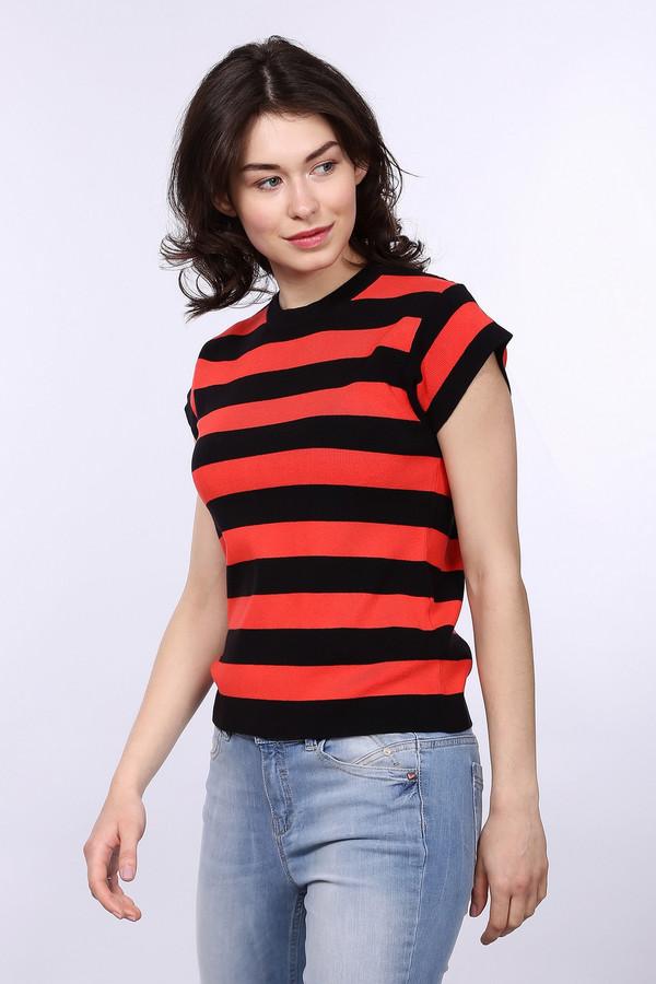 Пуловер PezzoПуловеры<br>Пуловер Pezzo женский. Черный и красный – это уже классика. В таком пуловере оставаться незаметной у вас просто не выйдет. Актуальный дизайн и яркий рисунок – то, что делает данную модель must-have в любом женском гардеробе. Состав: эластан, вискоза, полиамид. Отлично сочетается с брючками, юбками, джинсами.<br><br>Размер RU: 46<br>Пол: Женский<br>Возраст: Взрослый<br>Материал: эластан 2%, полиамид 17%, вискоза 81%<br>Цвет: Красный