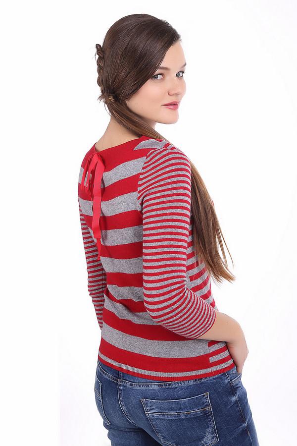 Пуловер PezzoПуловеры<br>Полосатый пуловер Pezzo приталенного кроя серо-красного цвета. Изделие дополнено: круглым вырезом и укороченными рукавами. Пуловер декорирован бантом на спинке изделия.<br><br>Размер RU: 50<br>Пол: Женский<br>Возраст: Взрослый<br>Материал: вискоза 33%, хлопок 18%, полиамид 23%, шерсть 18%, кашемир 4%, ангора 4%<br>Цвет: Разноцветный