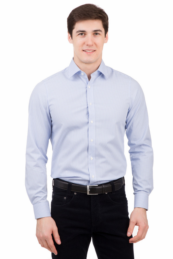 Рубашка с длинным рукавом MarvelisДлинный рукав<br>Рубашка с длинным рукавом Marvelis голубая. Мелкий графический узор на голубом фоне всегда к лицу мужчинам вне зависимости от возраста и телосложения. Голубой цвет уже настолько прижился в мужской моде, что стал неотъемлемой ее частью. Состав: 100%-ный хлопок. Рубашка великолепно смотрится как с непринужденными джинсами, так и со строгими классическими моделями брюк.<br><br>Размер RU: 38<br>Пол: Мужской<br>Возраст: Взрослый<br>Материал: хлопок 100%<br>Цвет: Голубой