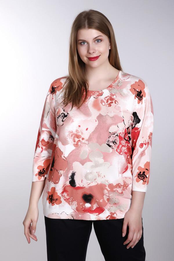 женский пуловер с круглым вырезом via appia, разноцветный