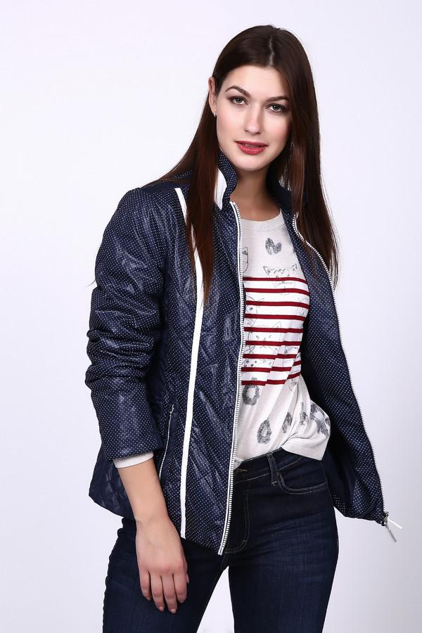 Куртка PezzoКуртки<br>Куртка Pezzo синяя с белым. Симпатичная и при этом очень практичная модель. Темный фон курточки отлично дополняют светлые вертикальные вставки на лифе. Рекомендуем такую курточку как женщинам, предпочитающим спортивный стиль, так и поклонницам классики и более нейтральных вещей. Состав: 100%-ный полиэстер.