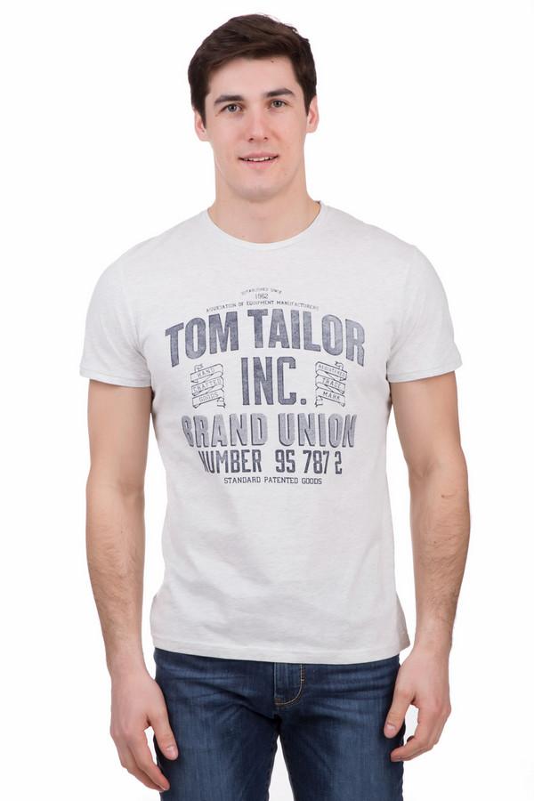 Футболкa Tom TailorФутболки<br>Футболкa Tom Tailor бело-серая мужская. Стильный принт по центру этой модели выглядит более чем современно и актуально. Крупная надпись на английском – уже давно популярный тренд в мужской моде. Состав: полиэстер, хлопок. Отлично смотрится с джинсами и шортами. Необходимая вещь для жарких летних дней.<br><br>Размер RU: 46-48<br>Пол: Мужской<br>Возраст: Взрослый<br>Материал: хлопок 60%, полиэстер 40%<br>Цвет: Серый