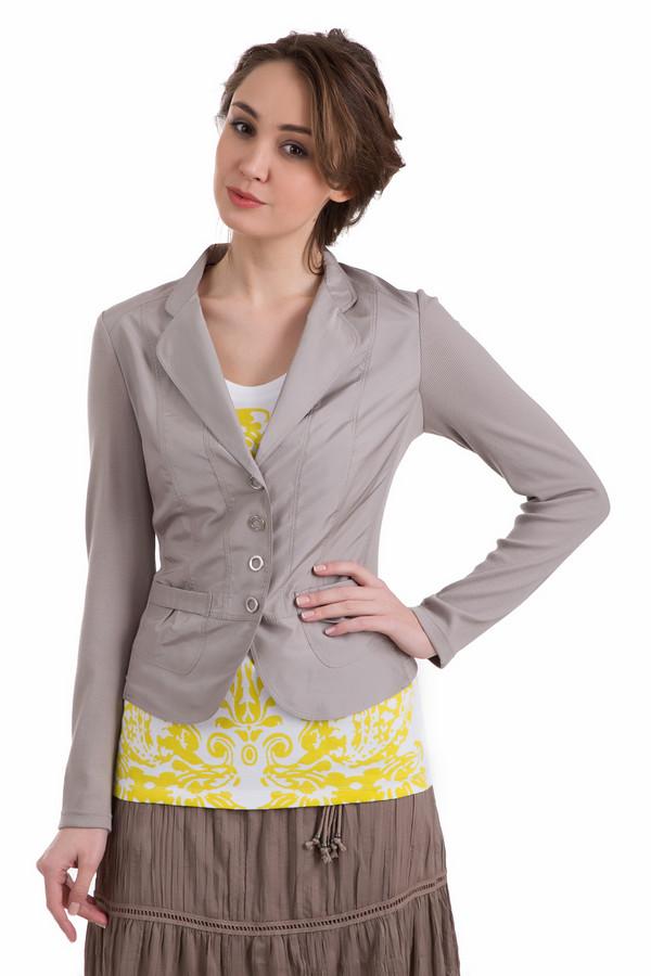 Жакет PezzoЖакеты<br>Жакет Pezzo серый. Необычный крой, оригинальные накладные карманчики со сборками, а также интересная застежка – это то, чем привлекает данная вещь с первого взгляда. Если вы устали от строгих однообразных пиджаков, но в то же время хотите выглядеть элегантно и женственно, то эта модель создана именно для вас. Состав: хлопок, полиэстер, эластан.<br><br>Размер RU: 50<br>Пол: Женский<br>Возраст: Взрослый<br>Материал: хлопок 95%, полиэстер 100%, эластан 5%<br>Цвет: Серый