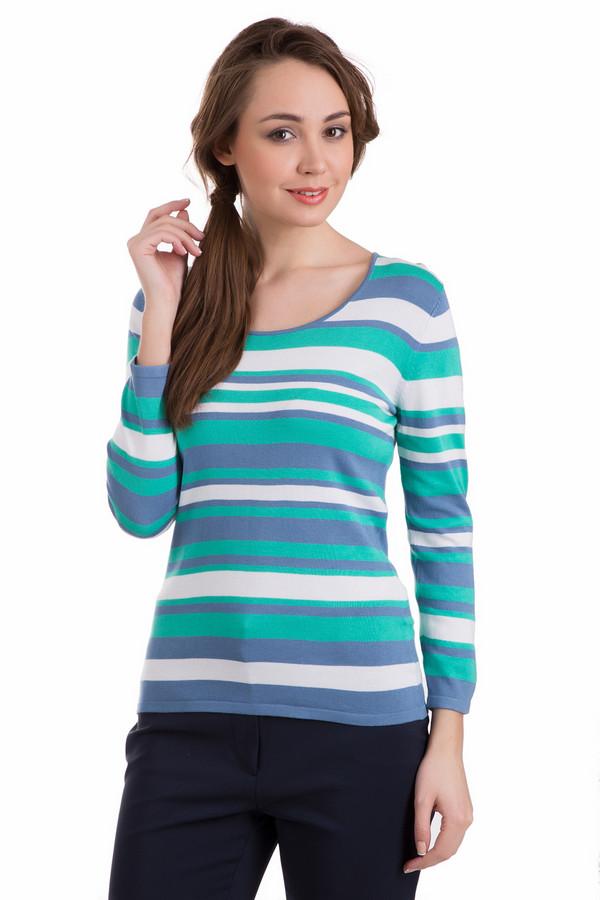 Пуловер PezzoПуловеры<br>Пуловер Pezzo разноцветный в полоску. Белый, зеленый и синий цвета – это бесподобное сочетание для одежды как мужской, так и женской. Горизонтальные полосы создают красивый рисунок данной модели. Состав ткани: полиамид и вискоза. Такой пуловер очень легко комбинировать с прочими вещами: с джинсами и брюками, а также юбками, особенно в спортивном или нейтральном стиле.<br><br>Размер RU: 42<br>Пол: Женский<br>Возраст: Взрослый<br>Материал: полиамид 19%, вискоза 81%<br>Цвет: Разноцветный
