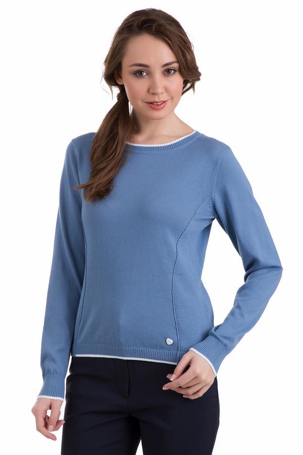 Пуловер PezzoПуловеры<br>Спортивный и оригинальный женский пуловер Pezzo синего цвета станет отличным выбором как для повседневной носки, так и для выхода на работу. Слегка приталенный силуэт и отделочные швы подчеркивают грудь и талию. Милым дополнением выглядит небольшая белая пуговка-сердечко в нижнем левом углу. Изготовлен из хлопка и полиэстера, отлично подойдёт для осени и весны.<br><br>Размер RU: 48<br>Пол: Женский<br>Возраст: Взрослый<br>Материал: хлопок 60%, полиэстер 40%<br>Цвет: Синий