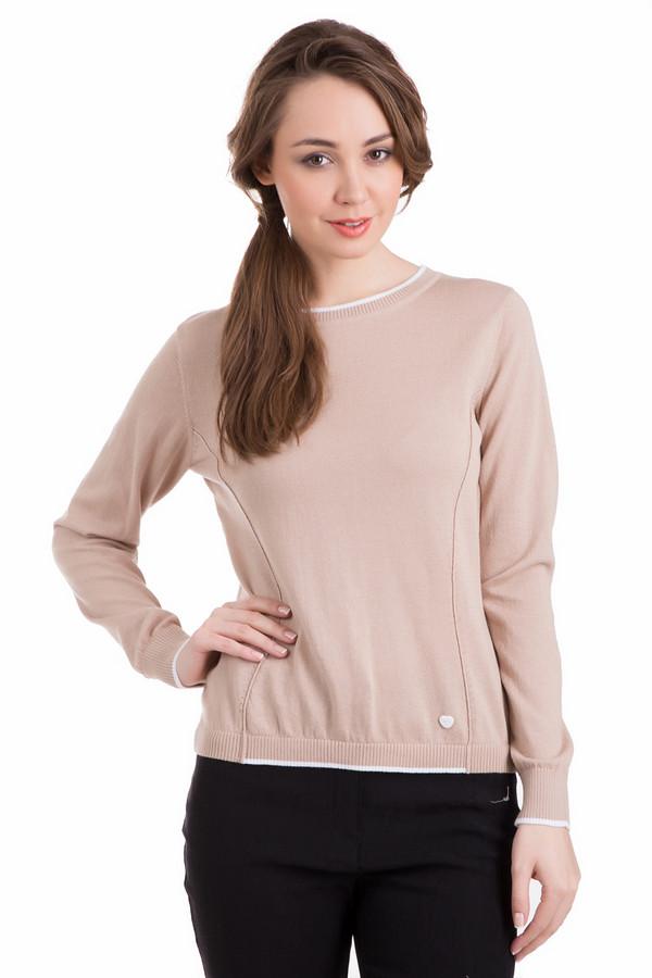 Пуловер PezzoПуловеры<br>Пуловер Pezzo бежевый женский. Интересный покрой данного пуловера обеспечит идеальную посадку по вашей фигуре, а тонкие отделочные полоски бежевого цвета по краям рукавов, по низу пуловера и вокруг выреза горловины сделают его еще более красивым и притягательным. Состав: хлопок и полиэстер. Демисезонный пуловер прекрасно подходит для прохладных осенних и весенних дней.<br><br>Размер RU: 44<br>Пол: Женский<br>Возраст: Взрослый<br>Материал: хлопок 60%, полиэстер 40%<br>Цвет: Бежевый