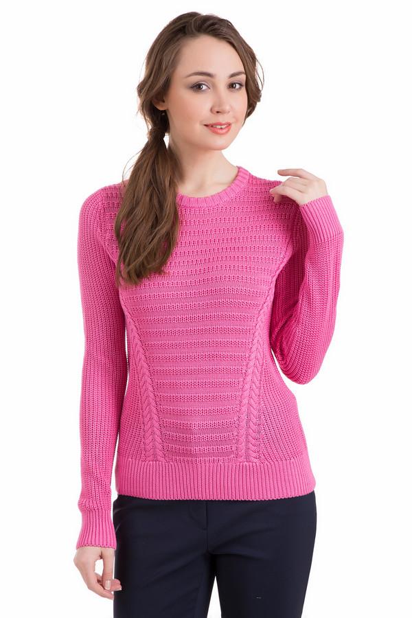 Пуловер PezzoПуловеры<br>Милый женский пуловер Pezzo приятного розового цвета согреет в прохладную погоду. Сочетает в себе более четырех узоров машинной вязки, что придает ему изысканности и необычности. Настоящим украшением служат косы, провязанные от низа изделия до рукавов, подчеркивающие фигуру. Изготовлен из вискозы и акрила. Демисезон - наиболее подходящее время для носки.<br><br>Размер RU: 42<br>Пол: Женский<br>Возраст: Взрослый<br>Материал: вискоза 50%, акрил 50%<br>Цвет: Розовый