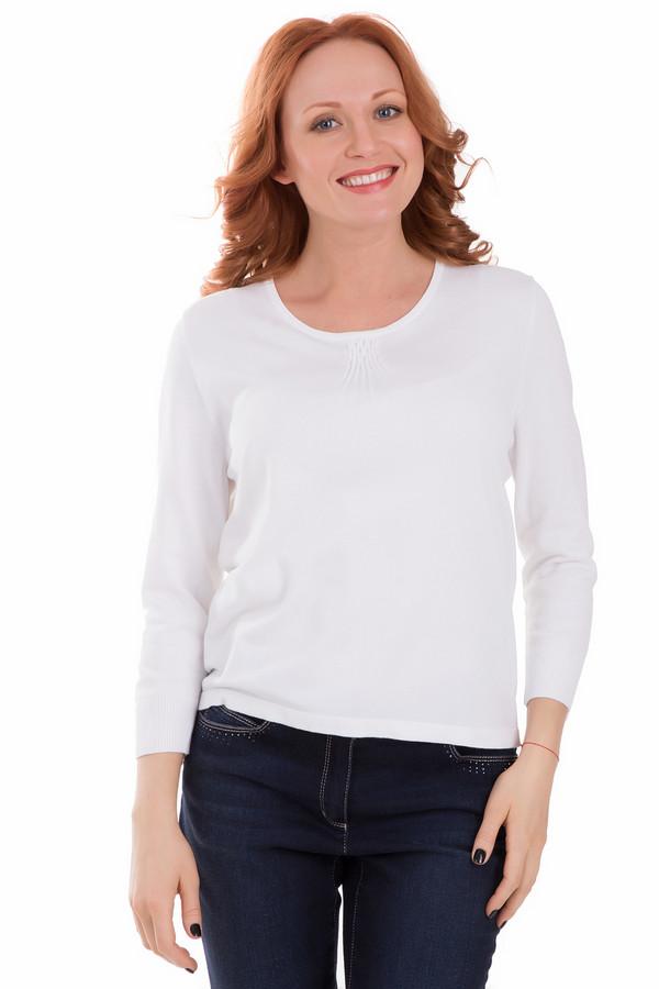 Пуловер PezzoПуловеры<br>Пуловер Pezzo белый. Присборенная ткань возле выреза горловины служит основным акцентом этого классического пуловера. Состав: полиамид и вискоза. Демисезонное изделие для требовательных дам, желающих быть в центре внимания и стремящихся к совершенству во всем. Хорошо смотрится эта вещь как с юбками, так и с джинсами и брюками.<br><br>Размер RU: 52<br>Пол: Женский<br>Возраст: Взрослый<br>Материал: полиамид 19%, вискоза 81%<br>Цвет: Белый