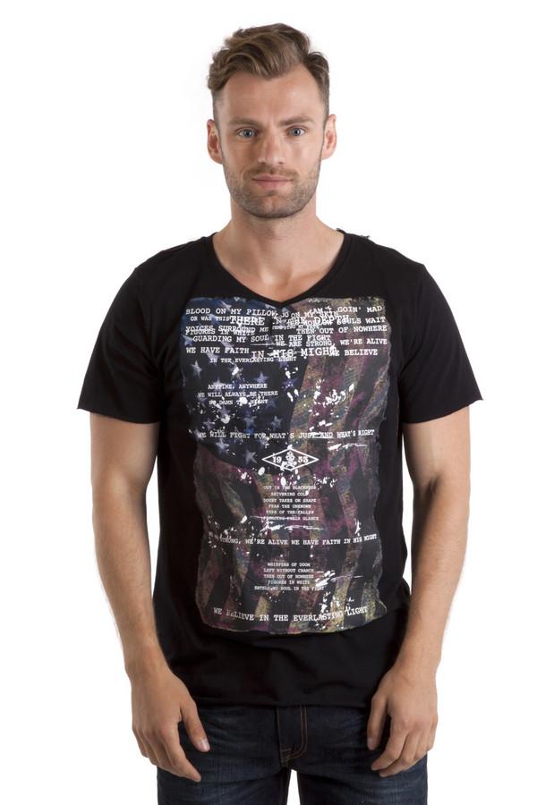 Футболкa LocustФутболки<br>Мужская черная футболка бренда Locust прямого кроя выполнена из приятного на ощупь хлопкового материала. Изделие дополнено: v-образным вырезом ворота и короткими рукавами. Футболка декорирована стильным принтом с американским флагом и надписями.<br><br>Размер RU: 52-54<br>Пол: Мужской<br>Возраст: Взрослый<br>Материал: хлопок 100%<br>Цвет: Чёрный