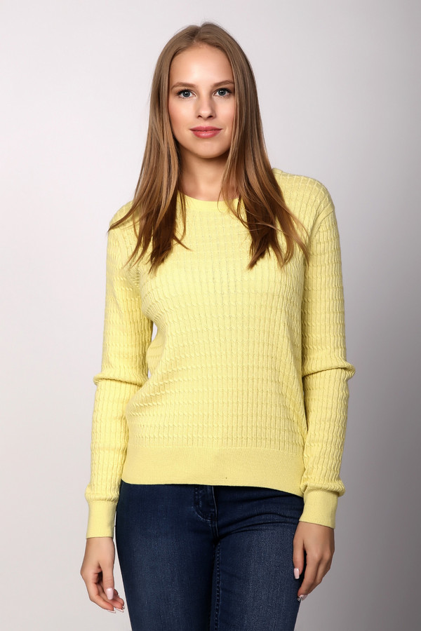Пуловер PezzoПуловеры<br>Нежный женский пуловер Pezzo лимонно-желтого цвета внесет свою изюминку в образ девушки. Выполнен прямым кроем, машинной вязкой с выпуклым узором. Дополняют его широкие резинки на манжетах и по краю изделия, а также узкая резинка на неглубокой горловине. Изготовлен из хлопка и акрила. Наиболее подходящее время для носки - весна и осень.<br><br>Размер RU: 50<br>Пол: Женский<br>Возраст: Взрослый<br>Материал: хлопок 60%, акрил 40%<br>Цвет: Жёлтый